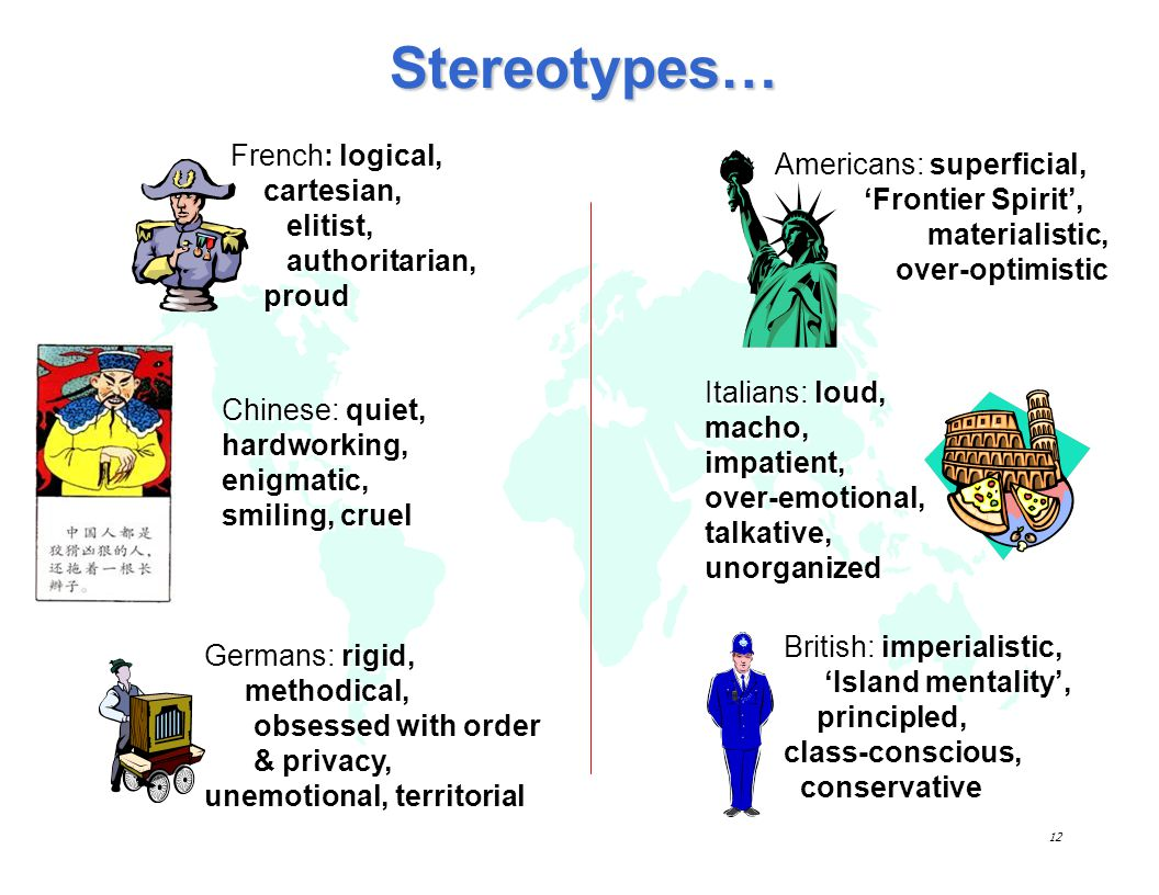 Stereotypes… French: logical, cartesian, elitist, authoritarian, proud