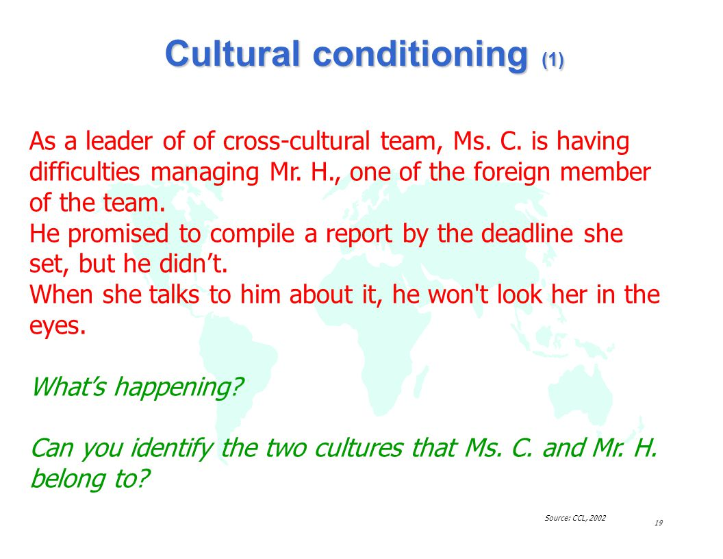 Cultural conditioning (1)
