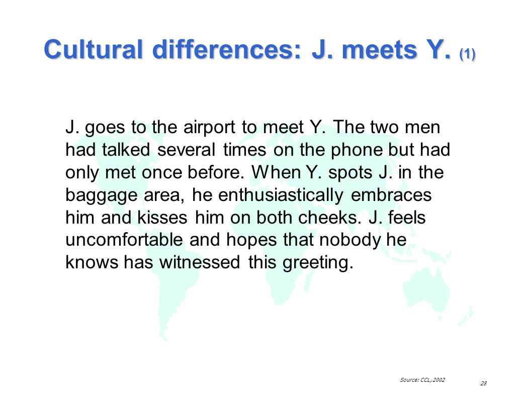 Cultural differences: J. meets Y. (1)