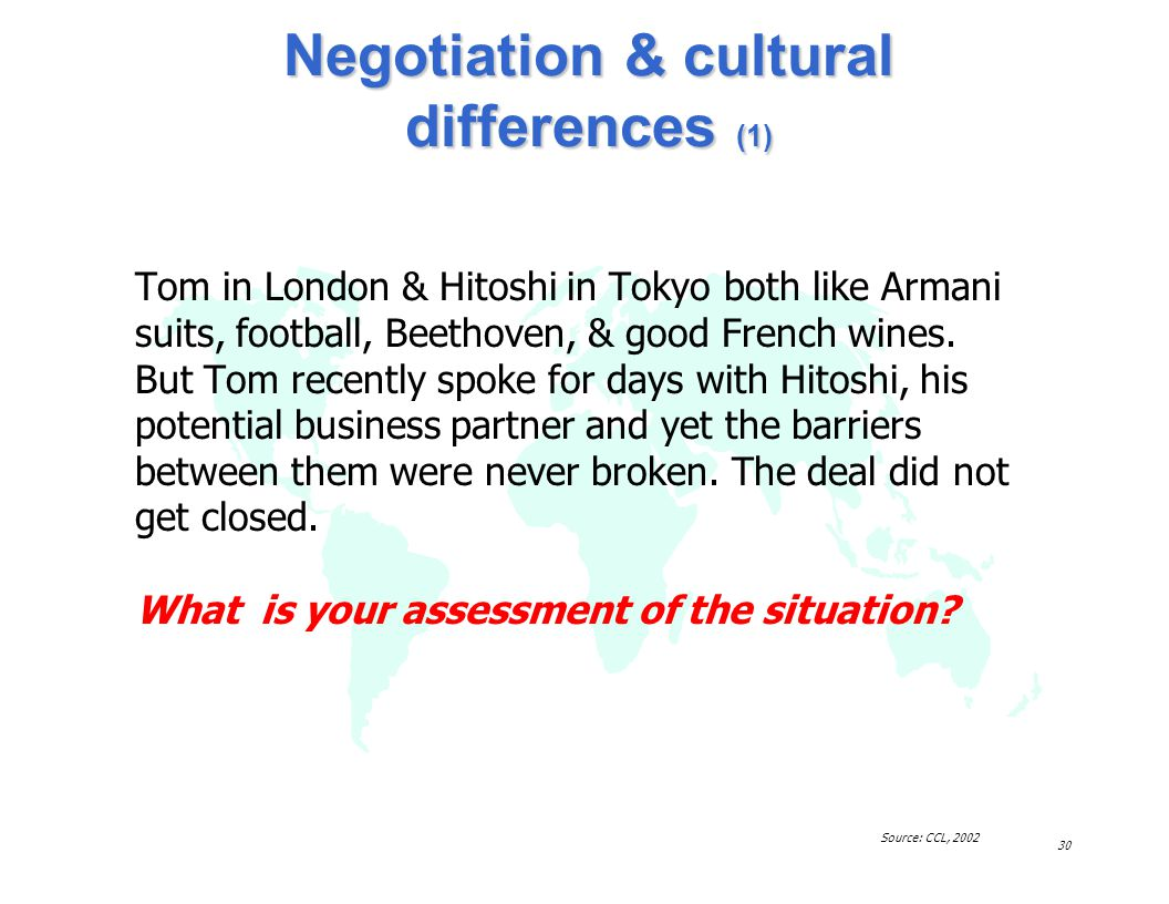 Negotiation & cultural differences (1)