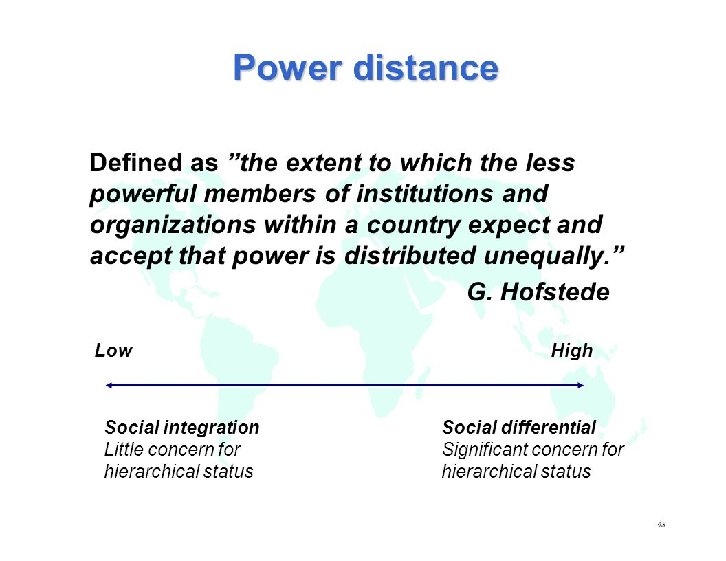 cross cultural communication and power distance