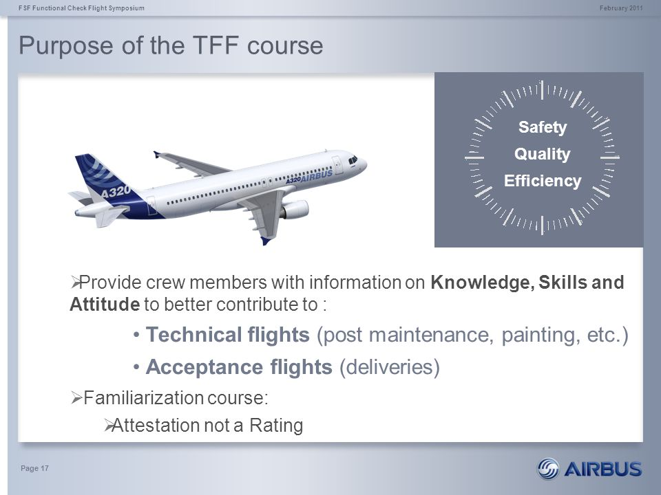 Purpose of the TFF course