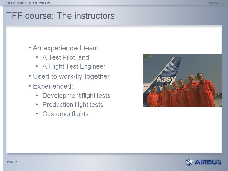 TFF course: The instructors