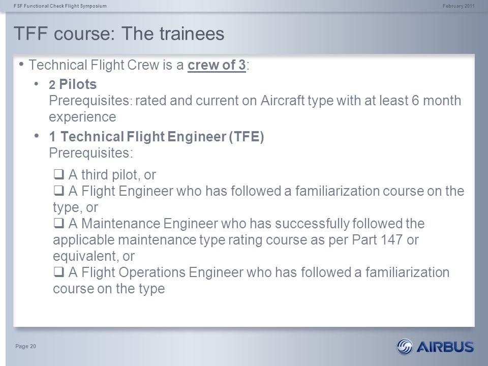 TFF course: The trainees