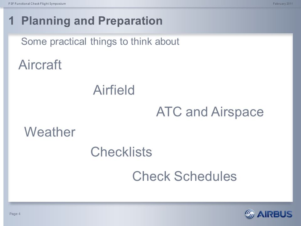 1 Planning and Preparation