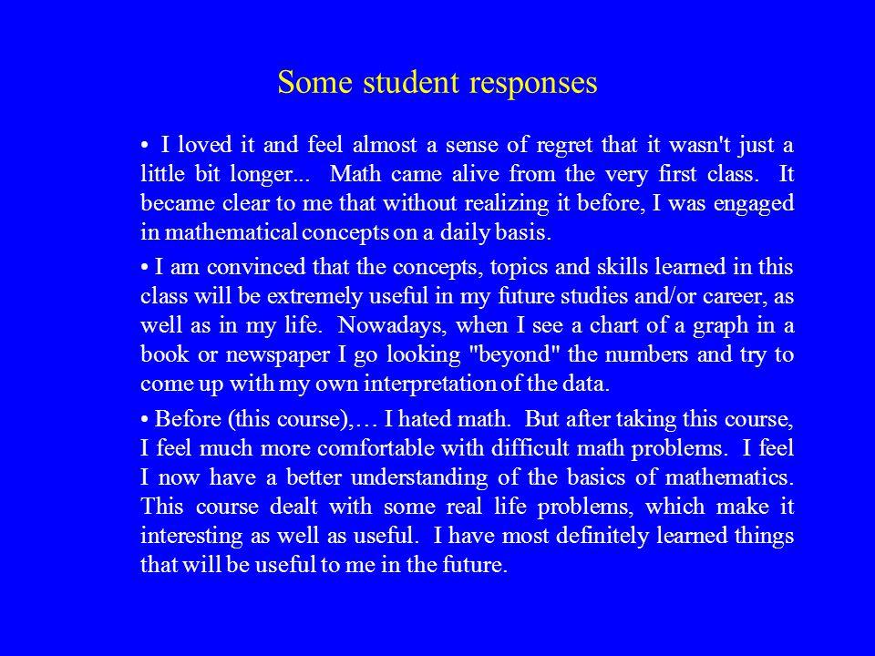 Some student responses