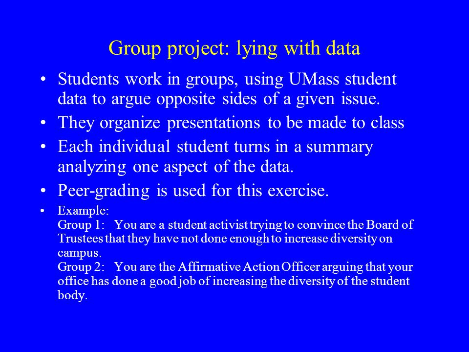 Group project: lying with data