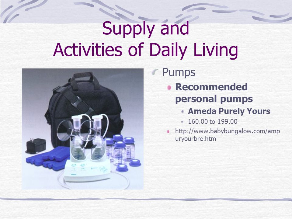 Supply and Activities of Daily Living