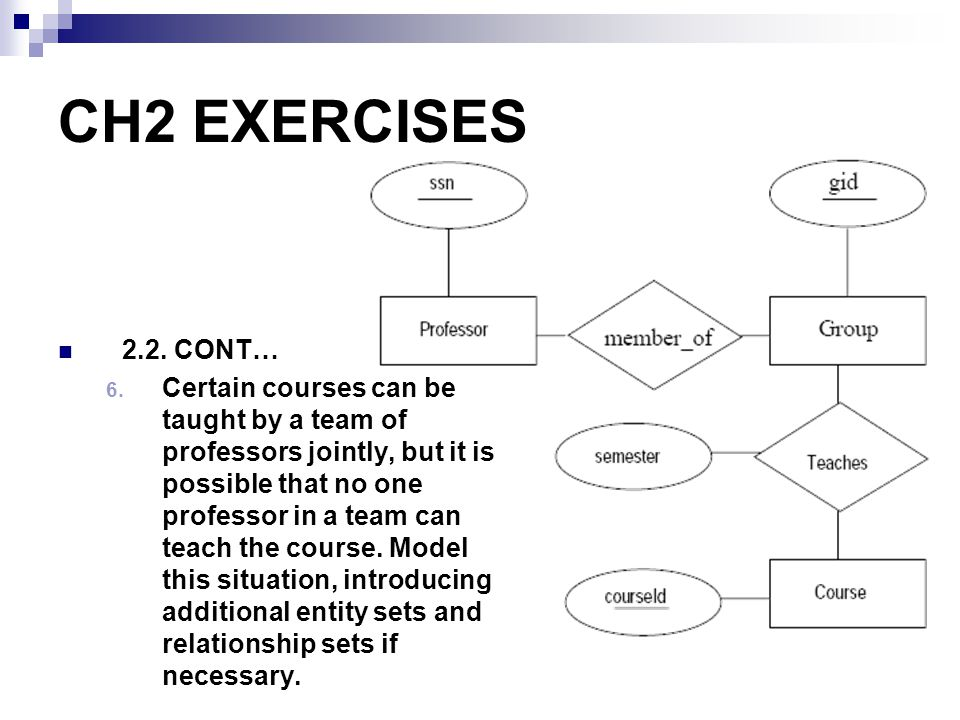 CH2 EXERCISES 2.2. CONT…
