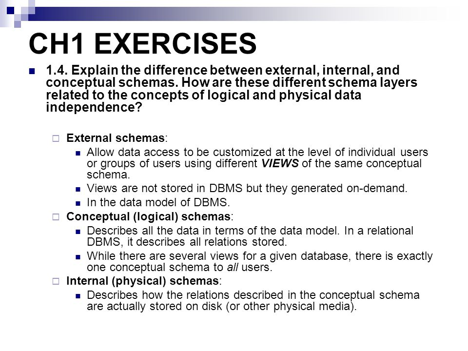 CH1 EXERCISES