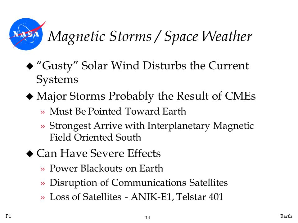 Magnetic Storms / Space Weather