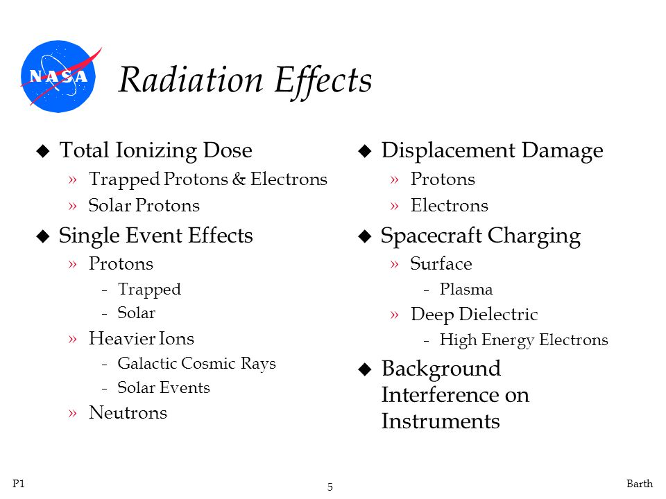 Radiation Effects Total Ionizing Dose Single Event Effects