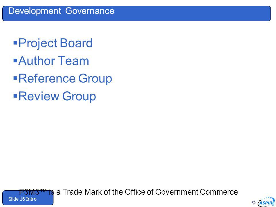 Development Governance