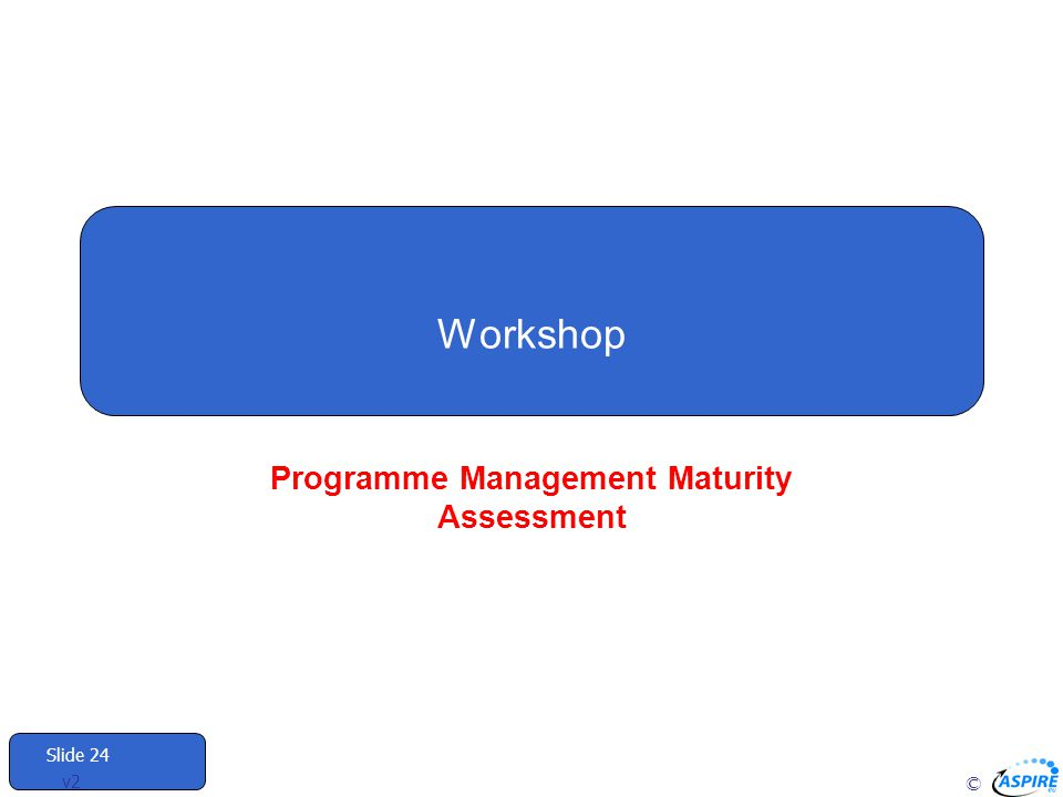 Programme Management Maturity Assessment
