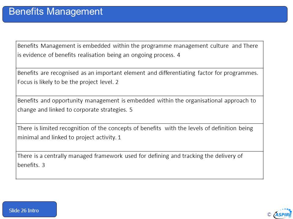 Benefits Management