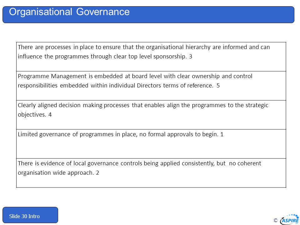 Organisational Governance