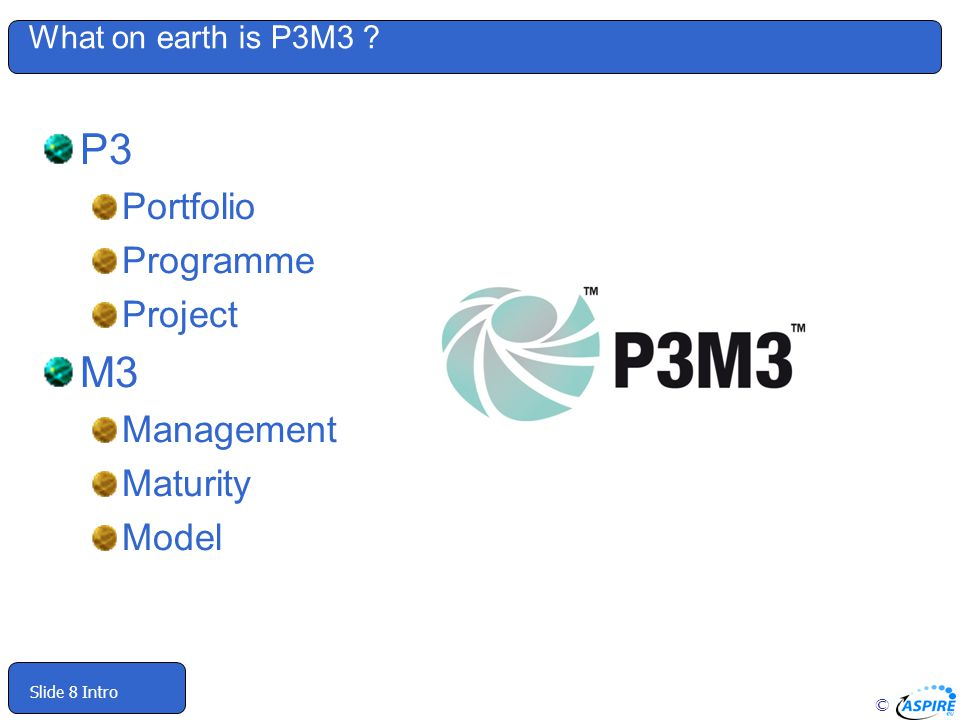 P3 M3 Portfolio Programme Project Management Maturity Model