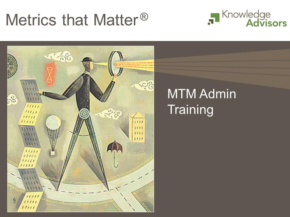 Metrics that Matter ® MTM Admin Training