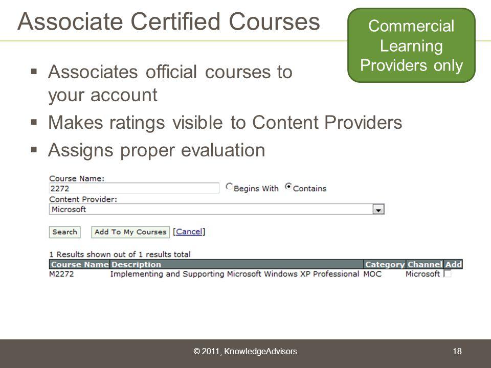 Associate Certified Courses