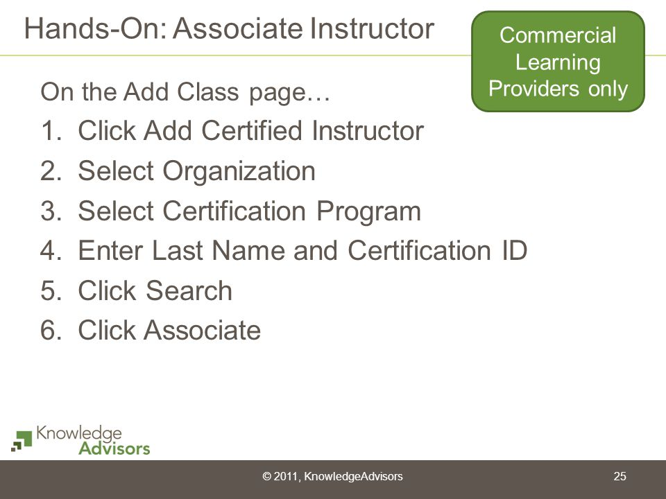 Hands-On: Associate Instructor