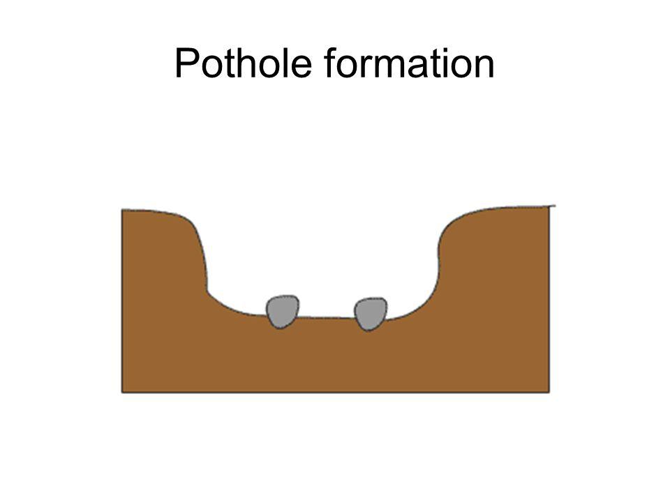 Pothole formation