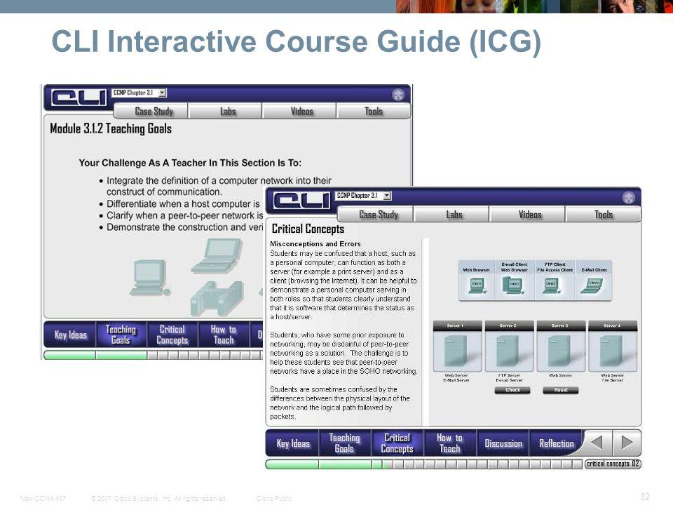CLI Interactive Course Guide (ICG)