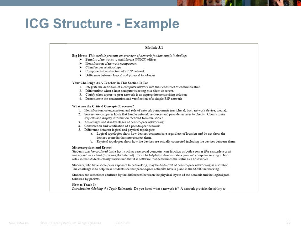 ICG Structure - Example