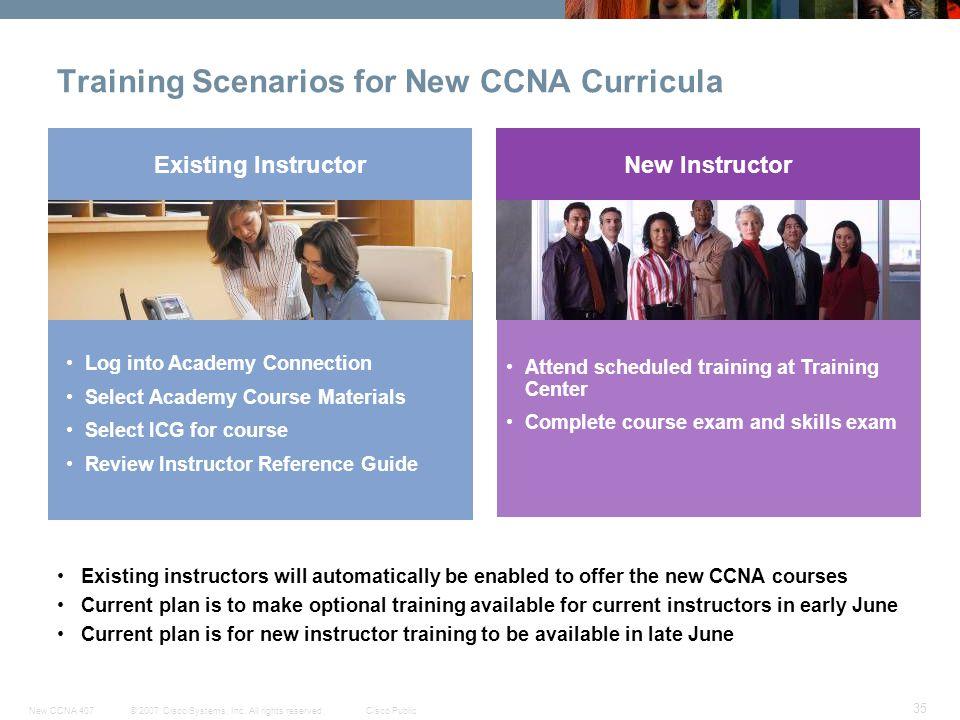 Training Scenarios for New CCNA Curricula