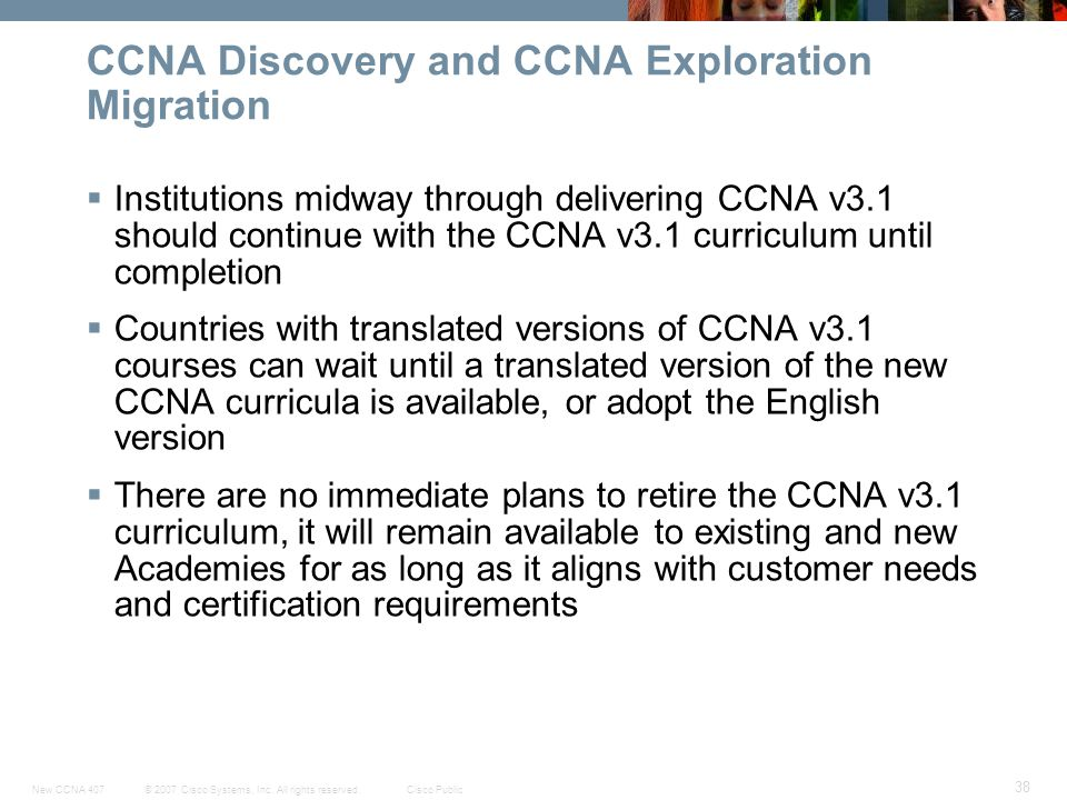 CCNA Discovery and CCNA Exploration Migration