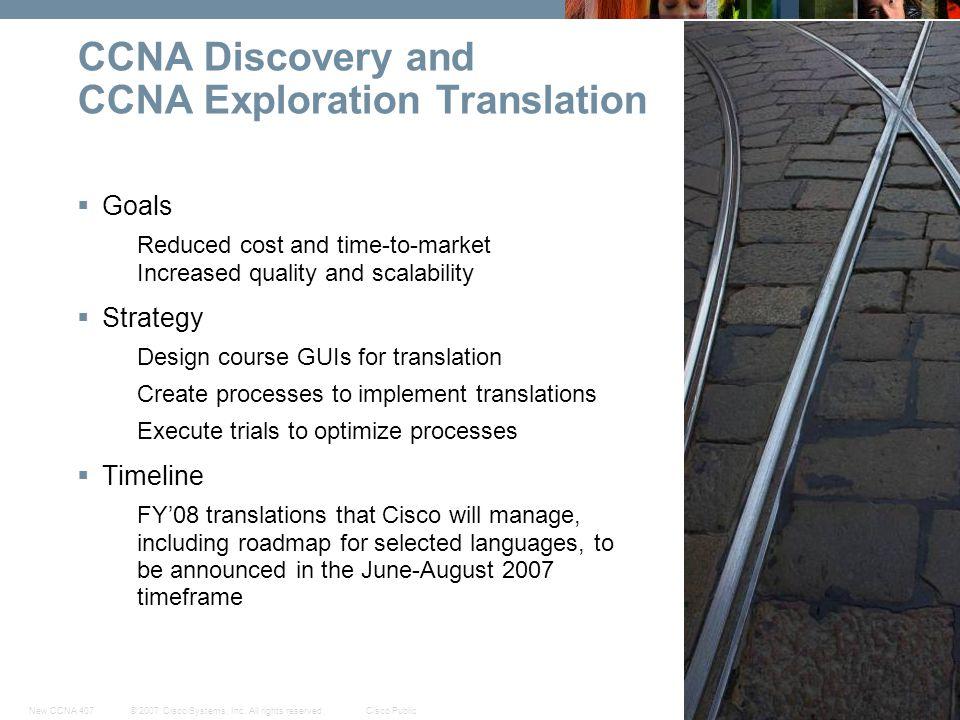 CCNA Discovery and CCNA Exploration Translation