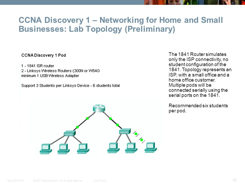 CCNA Discovery 1 – Networking for Home and Small Businesses: Lab Topology (Preliminary)