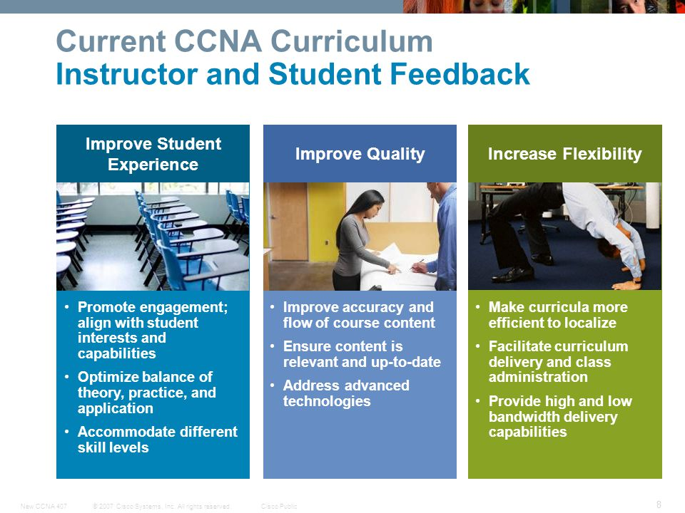 Current CCNA Curriculum Instructor and Student Feedback