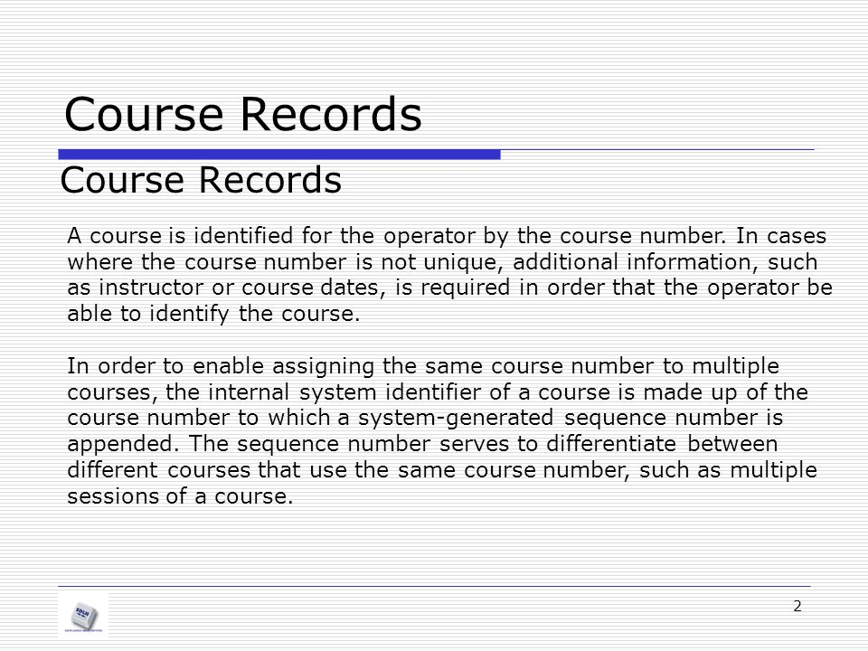 Course Records Course Records