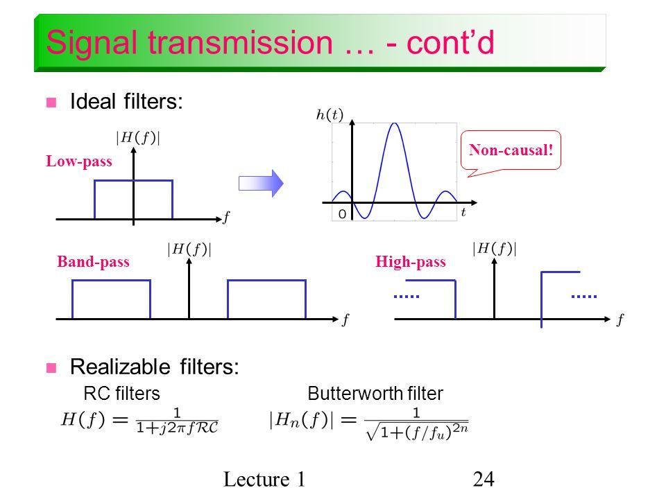 Signal transmission … - cont'd