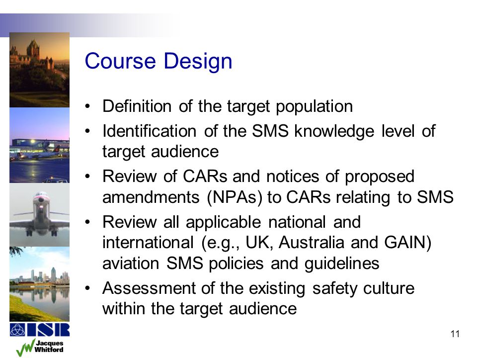 Course Design Definition of the target population