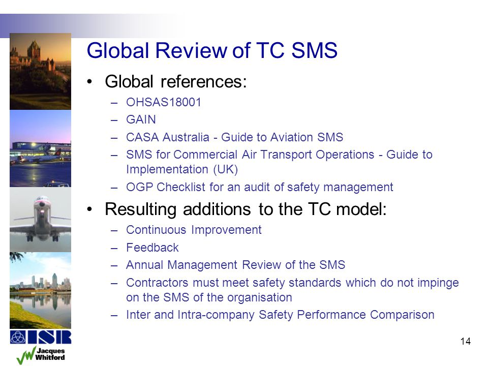 Global Review of TC SMS Global references:
