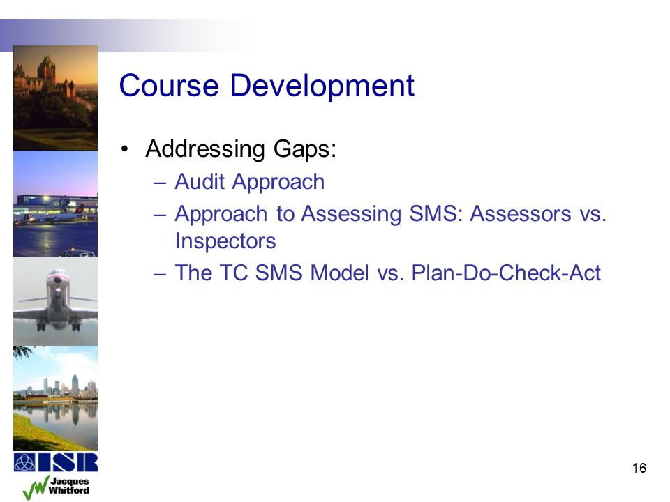 Course Development Addressing Gaps: Audit Approach