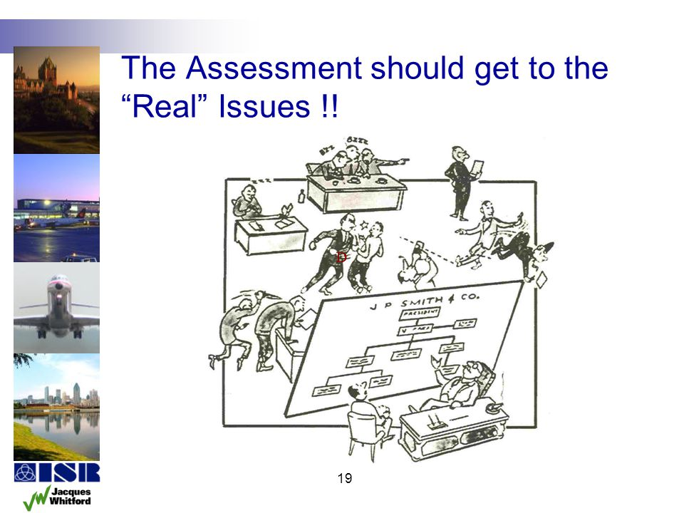 The Assessment should get to the Real Issues !!