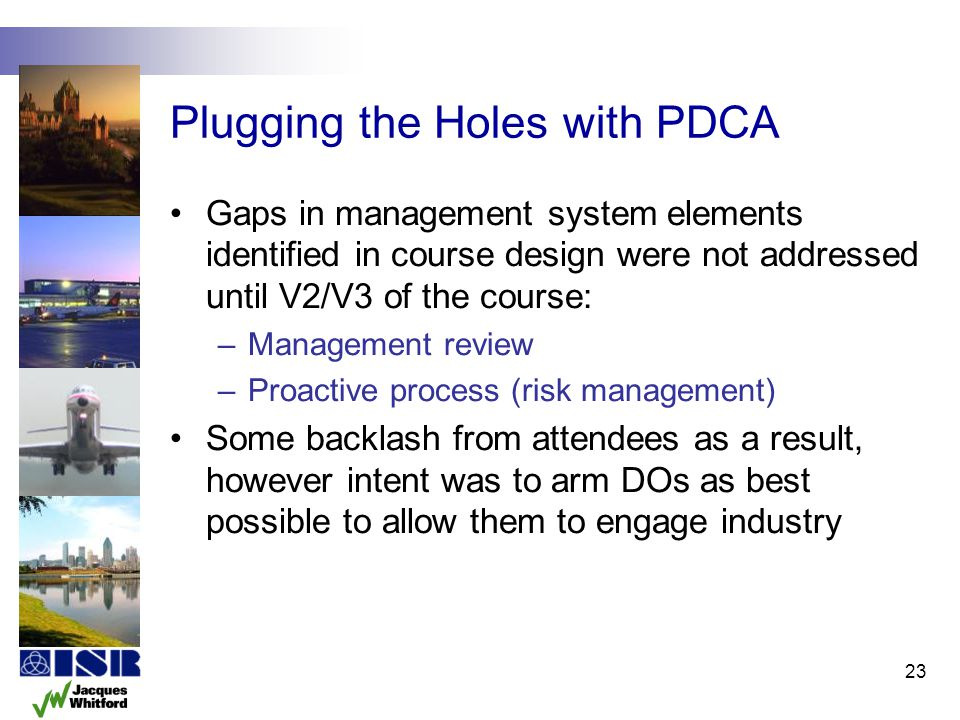 Plugging the Holes with PDCA
