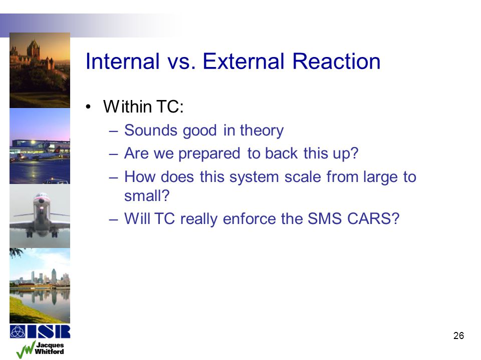 Internal vs. External Reaction