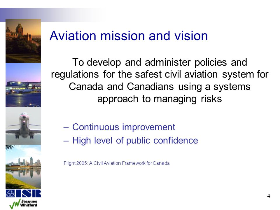 Aviation mission and vision