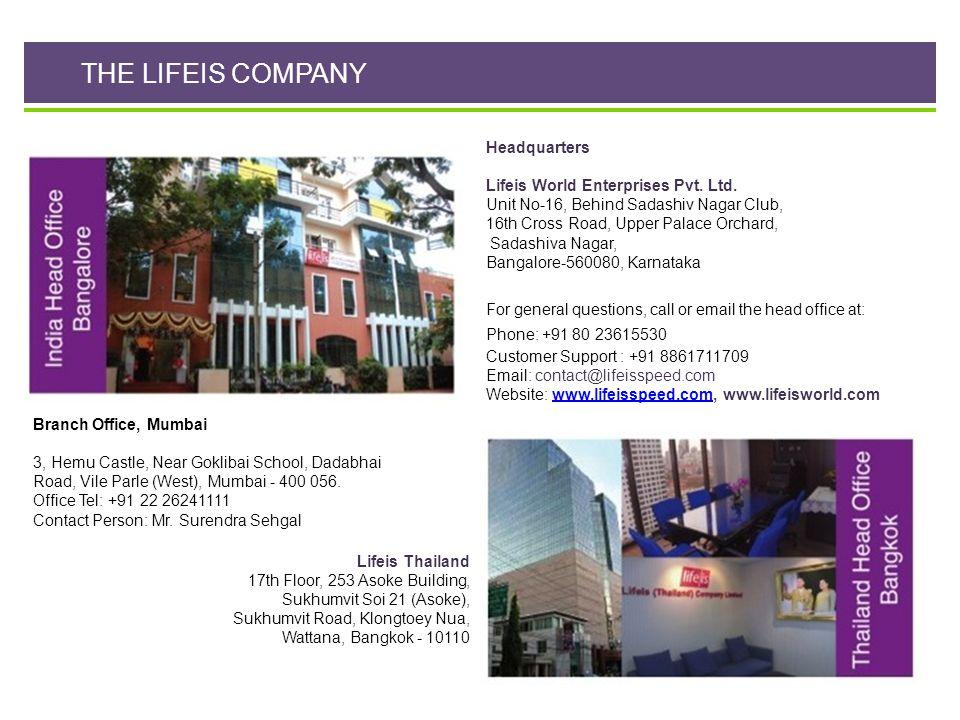 THE LIFEIS COMPANY Headquarters Lifeis World Enterprises Pvt. Ltd.
