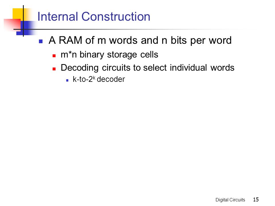 Internal Construction