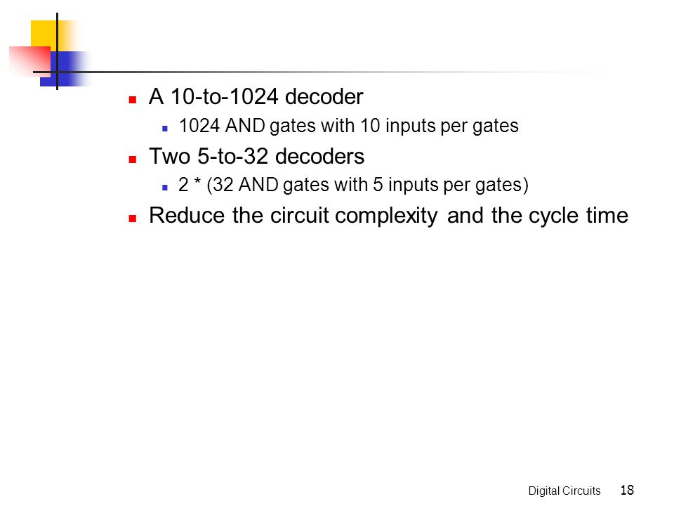 Reduce the circuit complexity and the cycle time