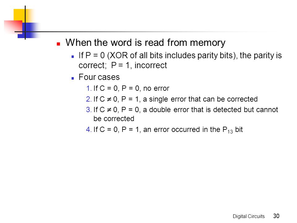 When the word is read from memory