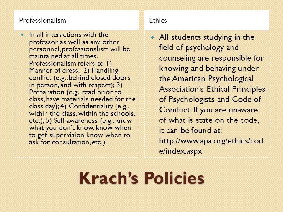 Professionalism Ethics.