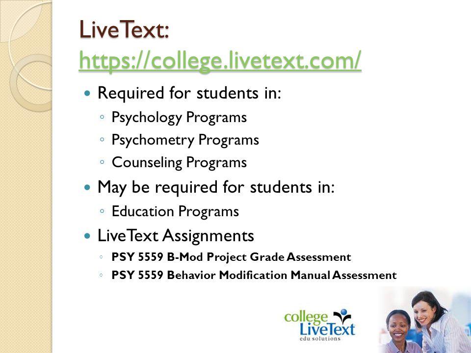 LiveText: https://college.livetext.com/