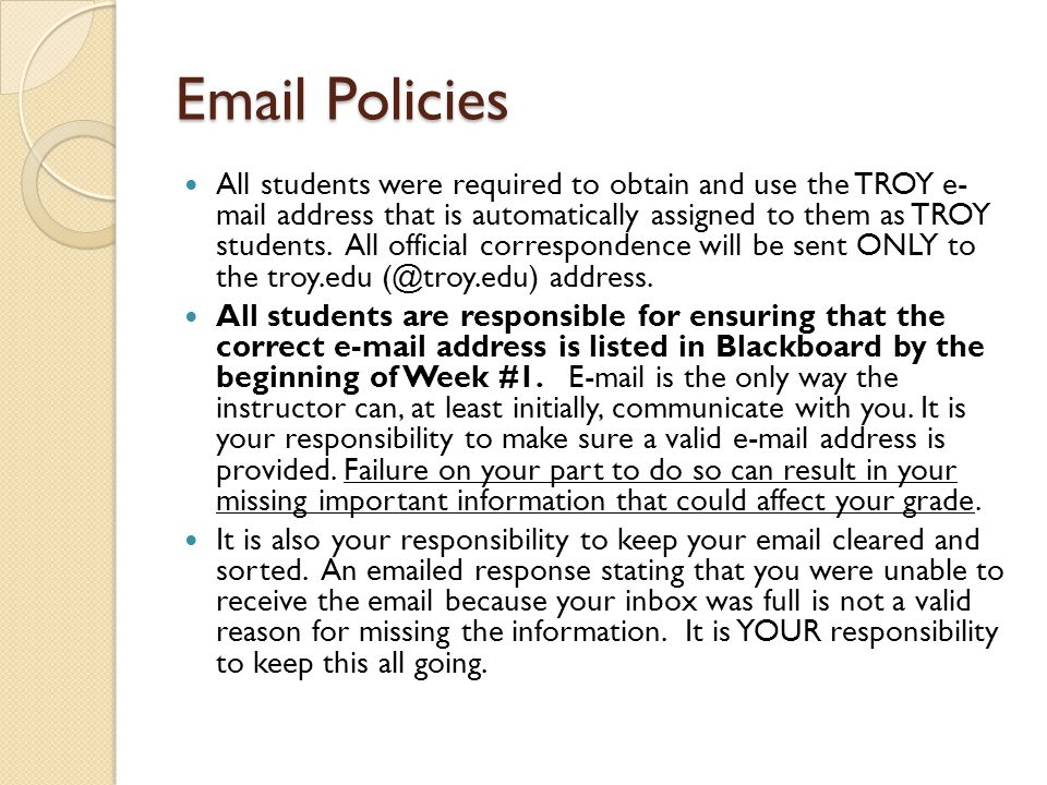 Email Policies