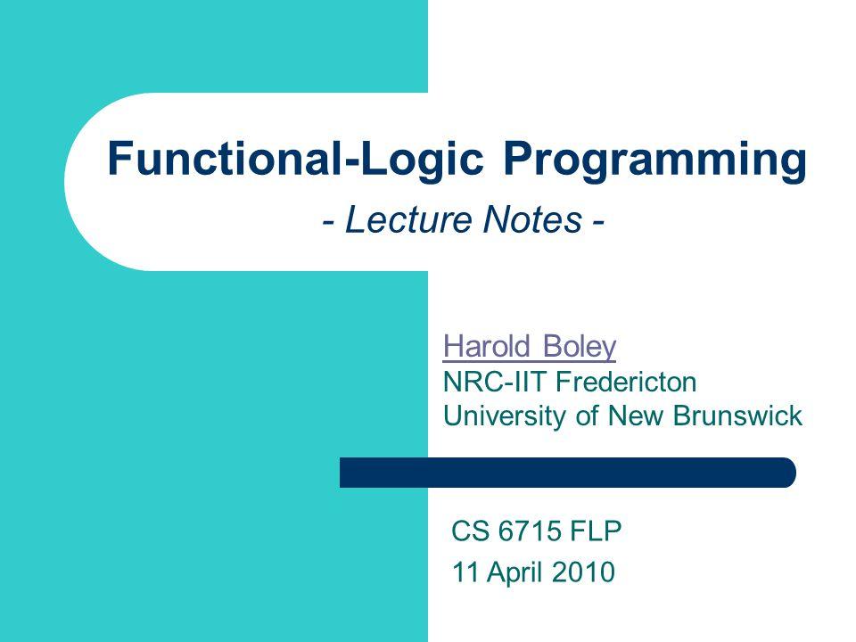 Principles of Functional and Logic Programming