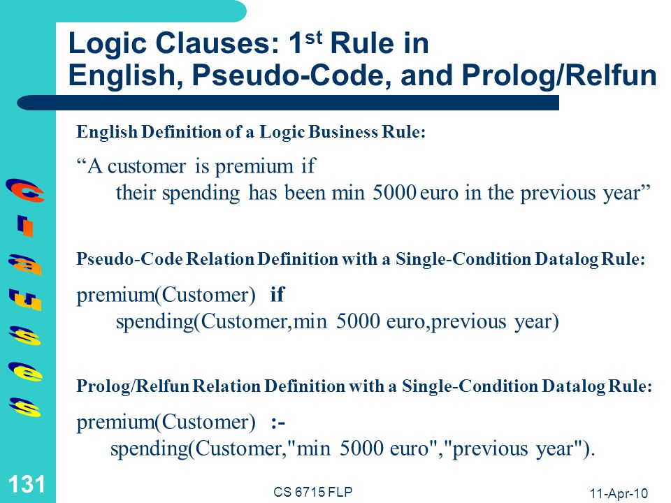 Logic Clauses: A Ground Call Resolved via Unification and a Subcall